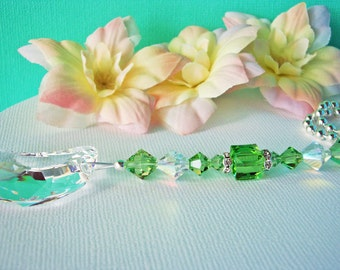 Crystal Ceiling Fan Pull Chain Green Home Decor Light Pulls