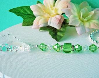 Ceiling Fan Pull Chain Green Swarovski Crystal Suncatcher Light Pulls Hanging Crystals