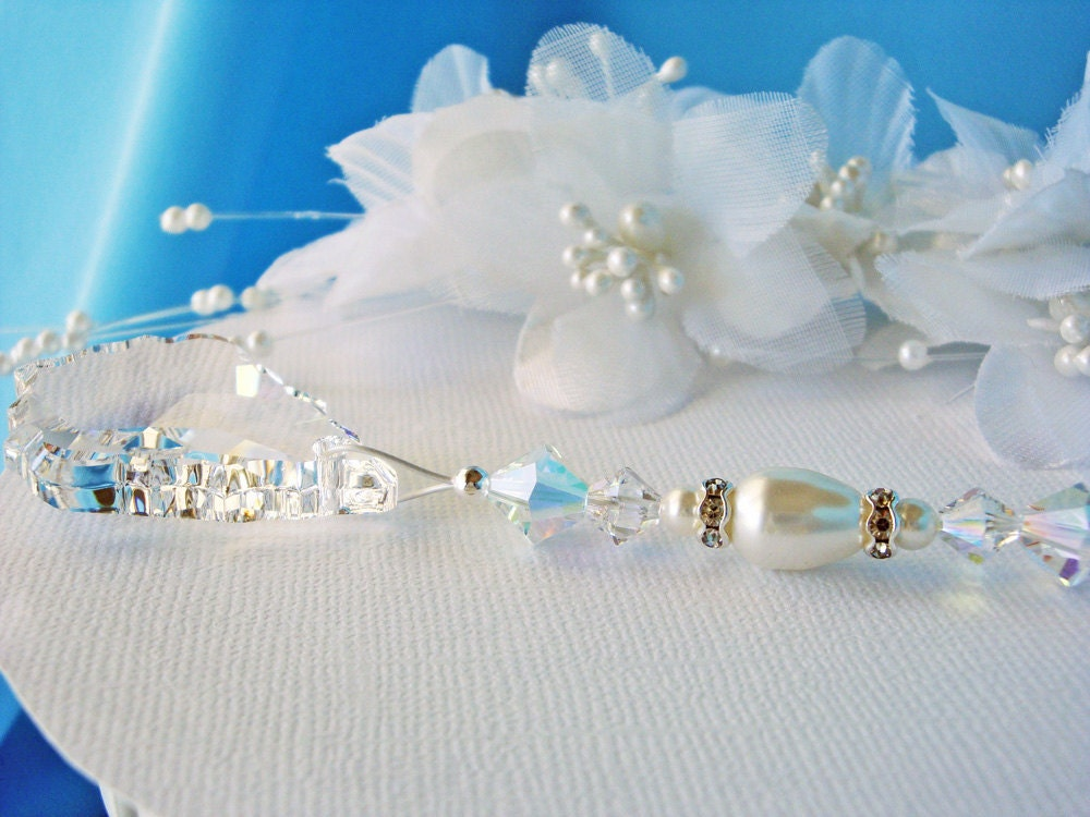 White Ceiling Fan Pull Chain Swarovski Crystal Light Pulls
