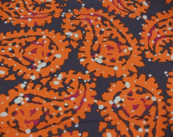 2.62 yards VTG fabric: cotton interwoven stripe Paisley