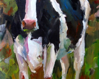 Connie the Holstein - Paper print of an original painting by Cari Humphry