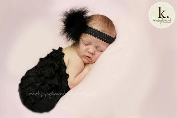 Newborn Wrap: Newborn Photo Prop, Stretch Wrap, Knit Wrap, Ruffle Wrap, Mini Blanket, Basket Stuffer, Basket Filler, Photography Prop black