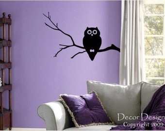 Cute Hoot Owl Vinyl Wall Decal Sticker