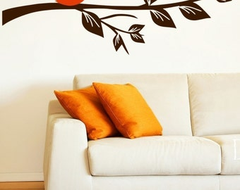 Love Bird Branch Vinyl Wall Decal Sticker