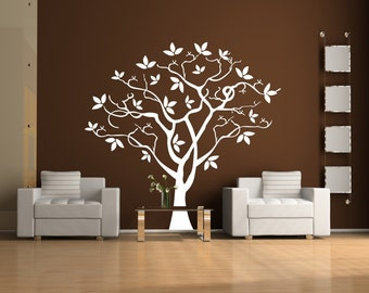 Twisted Tree Vinyl Wall Decal Sticker