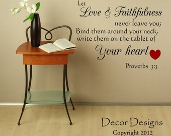 Love And Faithfulness Inspirational Quote Vinyl Wall Decal Sticker