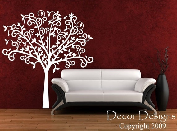 Twisty-twisty Tree Vinyl Wall Decal Sticker