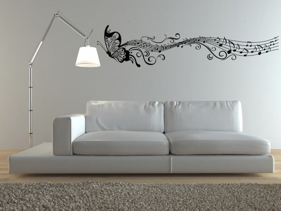 Pitter Patter Musical Notes Vinyl Wall Decal Sticker