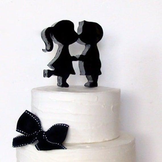 Kissing Couple Silhouette Black