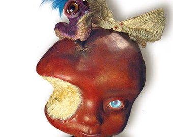 Anipoma Nemorosa  -  articulated paper doll 15.7 inches - fairy tale once upon a time fantasy poisoned apple art doll posion magical worm