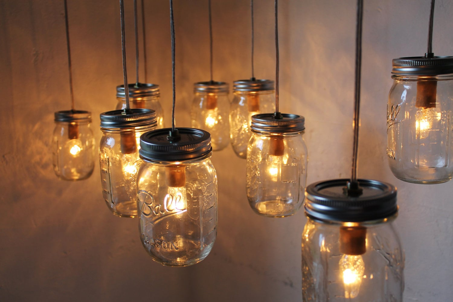 mason jar chandelier bootsngus handcrafted canopy by bootsngus. Black Bedroom Furniture Sets. Home Design Ideas