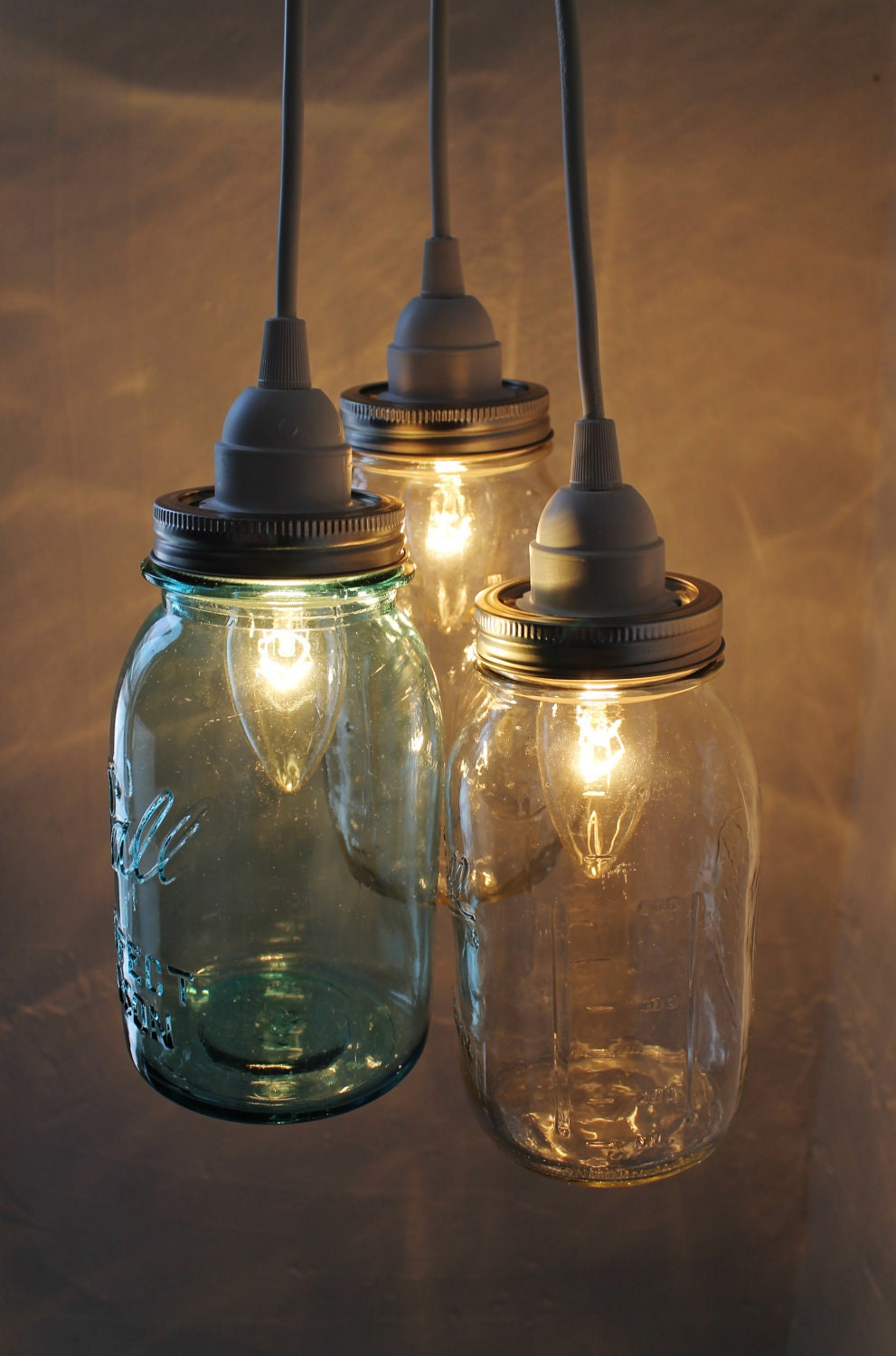 summer beach house mason jar chandelier 3 ball mason by bootsngus. Black Bedroom Furniture Sets. Home Design Ideas