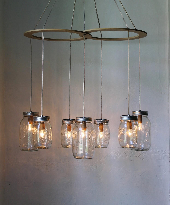 Mason Jar Chandelier: Mason Jar Chandelier Hanging Mason Jar Lighting Fixture
