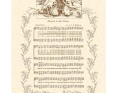BLESSED BE The NAME --- 8 x 10 Antique Hymn Art Print