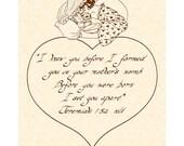 JEREMIAH 1:5a (NLT) --- 8 X 10 Calligraphy Art Print