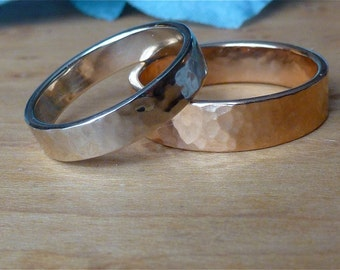 Perfectly Puddled: Medium 14k Yellow, White, or Rose Gold, Sizes 4.5-7.5, Handmade in Maine