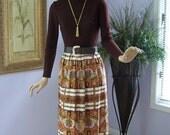 1960 Maxi Dress Vintage 60s Toni Todd Rich Brown Top w Paisley Maxi Skirt