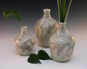 Small Caramel Drips Coordinating Ceramic Three Vase Set