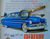 Vintage 1949 Old Magazine Advertisement MERCURY AD Your next Car Collectable Retro Modern Car Ad