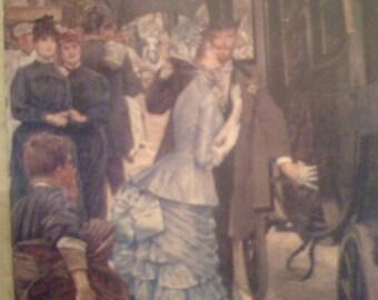 The Bridesmaid by J.J.J. Tissot, Medici Society LTD.  Art Postcard London  Printed in England