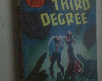 Rare Vintage 1940's Detective Prize Mystery Novel THE THIRD DEGREE by Joe Barry Vintage 40's/ Collectible/ Amazing Cover Art
