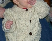 216 PDF  Unisex Toddler Fisherman  Cardigan Sweaters and Hats Crochet Pattern 2T 3T 4T