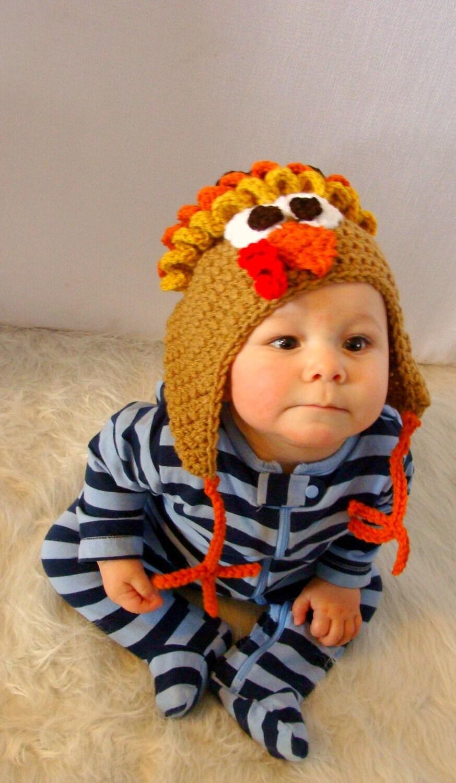 Turkey hat crochet pattern pdf 536 by sandyscapecodorig on etsy