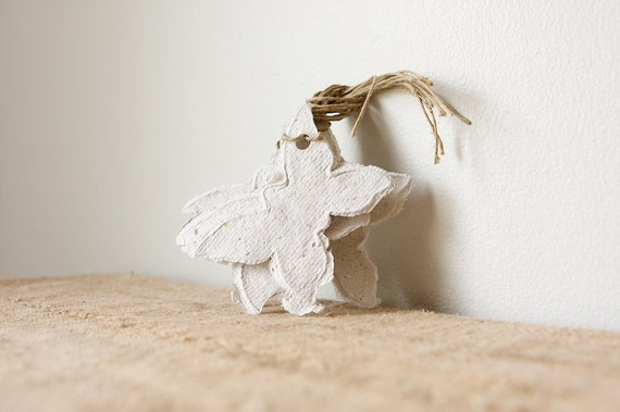 Handmade Paper Gift Tags- Butterfly Sage, Set of 6