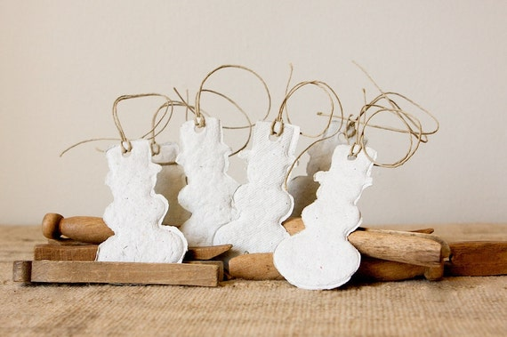 Let it Snowmen-Handmade Paper Gift Tags, set of 6
