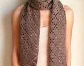 Diamond Eyelet Scarf - PDF Crochet Pattern - Instant Download