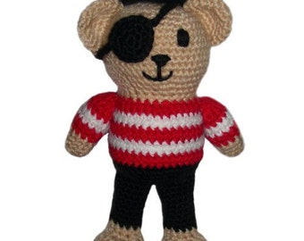 Pirate Teddy Bear - PDF Crochet Pattern - Instant Download