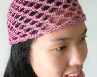 Mesh Lace Beanie (5 sizes) - PDF Crochet Pattern - Instant Download