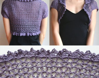 V Lace Shrug - PDF Crochet Pattern - Instant Download