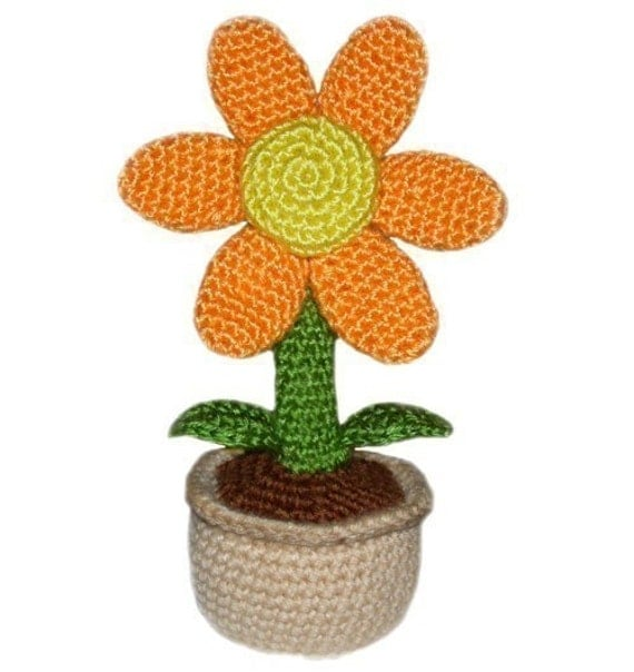 Potted Flower - PDF Crochet Pattern - Instant Download
