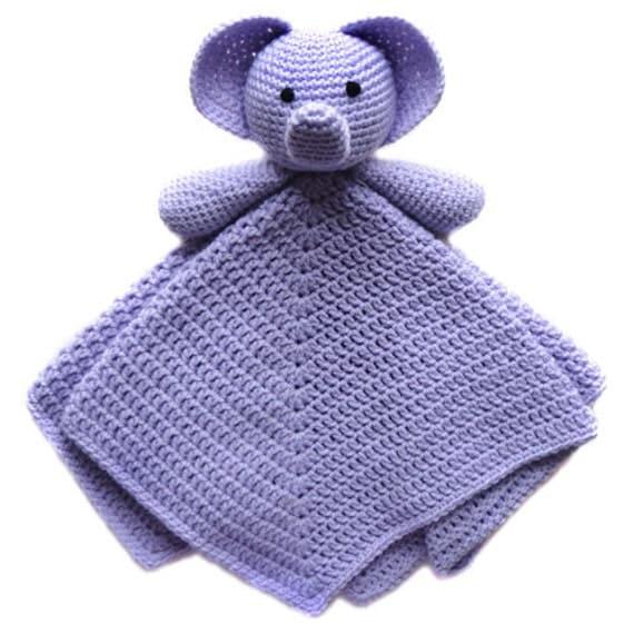 Elephant Security Blanket Pdf Crochet Pattern Instant