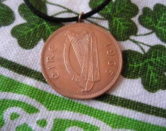 1965 Irish Birth Year Coin Necklace/ Penny Ireland Necklace