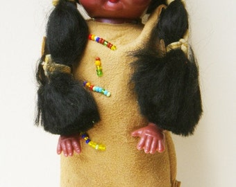 Native American doll - vintage 1960s