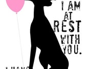 Greyhound Rescue Dog Art Print Wall Decor