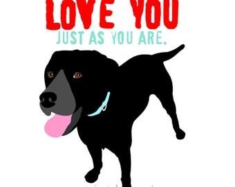 Labrador Love Art Dog Print Best Friend Wall Decor Digital Art