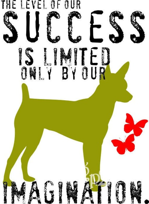 Toy Fox Terrier Dog Art Print Inspirational Dog Print Wall