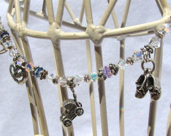 New Mom Sterling 4 Charm Bracelet