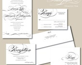 Black and White Wedding Invitation - Demode Ink