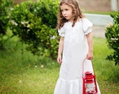 Vintage White Cotton Nightgown--Available in sizes 6M-12 girls