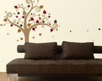 Happy Tree Multicolour Vinyl Wall Decal