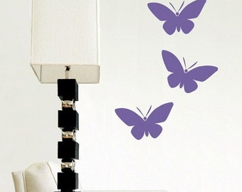 Simple Butterflies (Set of 3) - Vinyl Wall Decal