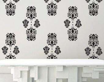Baroque 2 - Vinyl Wall Decal Wallpaper Effect