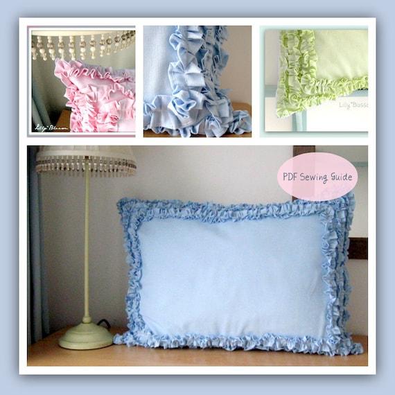 PDF Sewing Pattern Ruffle Border Pillow