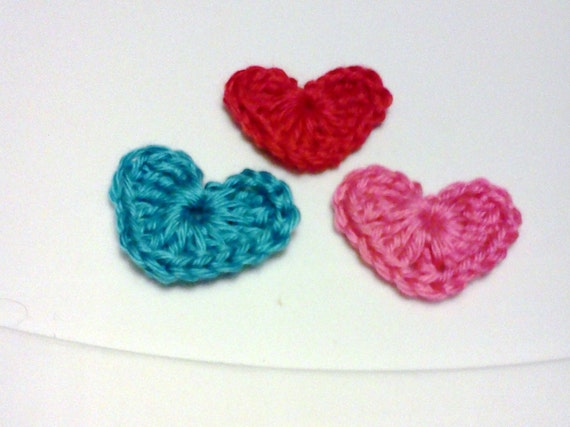 Hearts in groups of 3...... Embellishments, Applique, Crafting Supplies