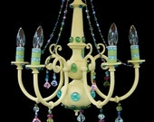 Pretty Princess- Yellow Electric Chandelier