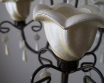 Cookies N Cream 3 Candle Chandelier MADE TO ORDER